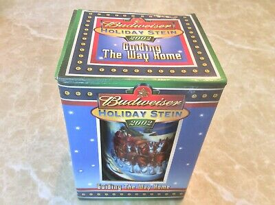 Budweiser Holiday Stein 2002 NEW IN BOX, Authenticity Certificate