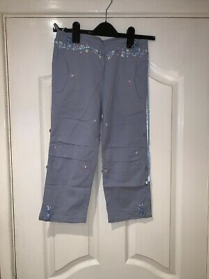 Maharishi Girls Snopants In Blue With Ribbon Flower Embroidery!!!