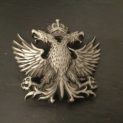 DOUBLE HEADED EAGLE New BELT BUCKLE Silver Colour Metal Imperial Russian Symbol