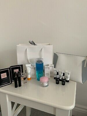 Lancome Travel Sized Products X16 And Cosmetic Bag
