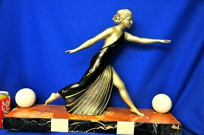 1920s FANTASTIC SCULPTURE  LOVELY DIANA  HUNTRESS CHRYSELEPHANTINE ART DECO