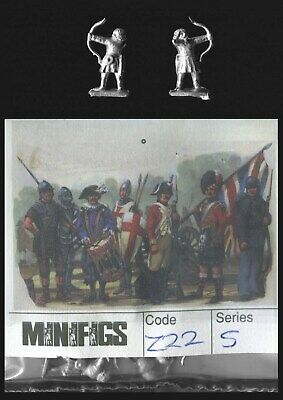 Minifigs 15mm Imperial Romans Z22 Archers 3rd/5th Century, Shield, Bareheaded x8