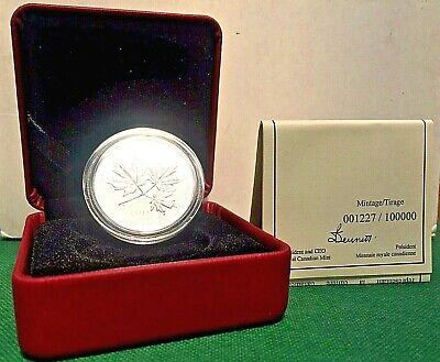 2011 $10 1/2 oz RCM Silver Coin Maple Leaf 1227 of 100K SHIPS FREE!!