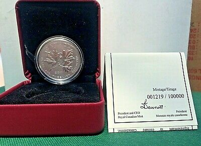 2011 $10 1/2 oz RCM Silver Coin Maple Leaf 1219 of 100K SHIPS FREE!!