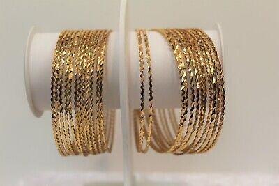 Indian Gold Plated Bangles Set 24 Chudiya Size 2.8 Fashion Jewellery Women