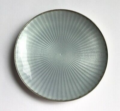 """Small Strerling & Enameled """"Silver Color"""" Dish - Hallmarked E"""
