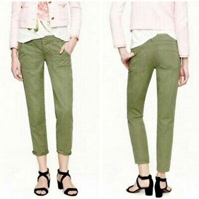 cd560ec58cc71 J. Crew Womens Pants Cargo Scout Chino Army Green Ankle Military City Fit  Size 4