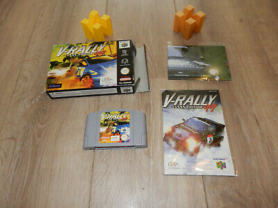 PAL N64: V-Rally 99 with box and manual Nintendo 64