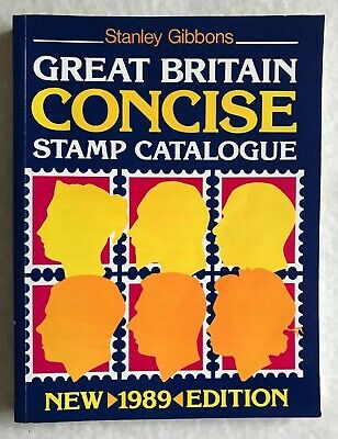 Stanley Gibbons Concise GB Stamp catalogue 1989, soft cover In V Good Condition