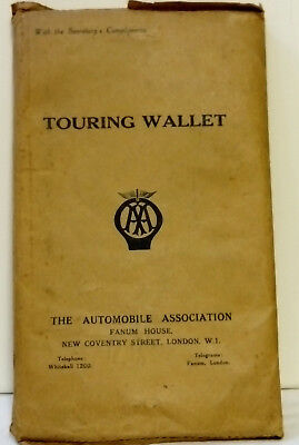 AA Touring Wallet, The Automobile Association, London