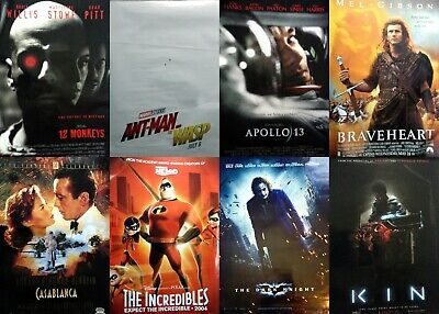 LOT of Movie Posters 27x40 - Dark Knight Ant-Man Apollo 13 Braveheart Kin - MORE
