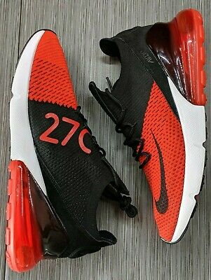 Nike Air Max 270 Flyknit AO1023-601 Chile Red Black Men's Running Shoes size 9.5