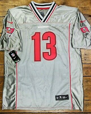 e34ef88c2ab NEW Nike On Field Mike Evans #13 Jersey Tampa Bay Buccaneers SZ 50* Silver