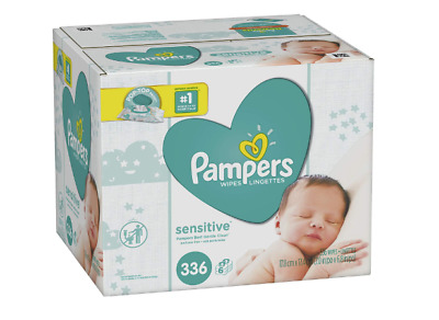 Pampers Baby Wipes Sensitive 6X Pop-Top Packs, 336 Count