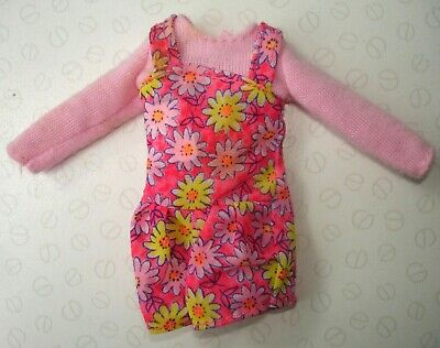 Vintage 1996 Barbie Bicyclin' Stacie Doll's Original Pink Floral Outfit