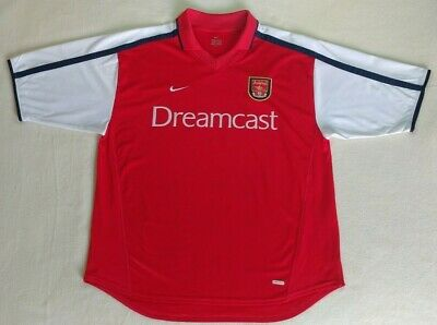 ffbdfb8ad Arsenal FC 2000 2002 Home Football Jersey Nike Soccer Shirt Size XL  Dreamcast
