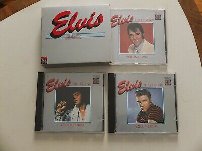 Elvis ‎– The Legend German Limited Edition 3 CD-Box Pappschuber RCA silber