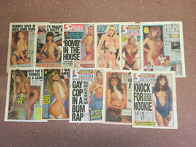 Page 3 Girl Clippings / Cuttings Vintage Page 3 Glamour Art / Nudes (Lot 6)
