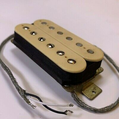 Vintage 1970s DiMarzio PAF SQUARE-EARS Humbucking Humbucker Pickup Cream Color