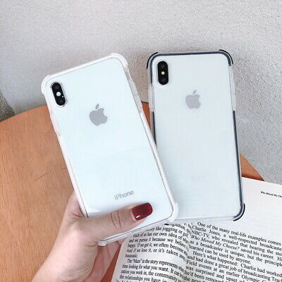 Ultra Thin Soft TPU Transparent  Case Cover For iPhone XS Max XS XR X 8 7 6 Plus