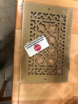 Reggio register Co. Inc.  Brass Gold Antique Style Register Cover Grate 12x8