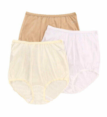 Shadowline Nylon Full Brief Panty 3-Pack  Assorted 17042