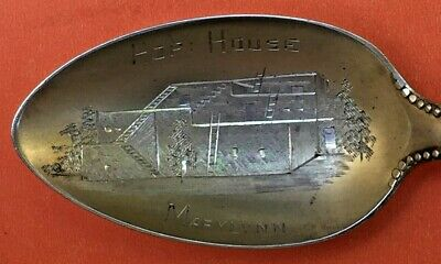 Rare Hopi House Grand Canyon Arizona Sterling Silver Souvenir Spoon