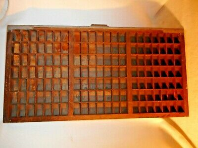 Antique Keystone Type Drawer-Old Printer's Type Drawer-Labeled-Curio Tray