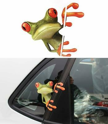 21*21cm Funny Peep Frog Car Stickers Truck Window Vinyl Decal Graphics Sticker