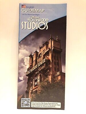 Hollywood Studios Park Guide Map - Tower Of Terror - Walt Disney World - 2013