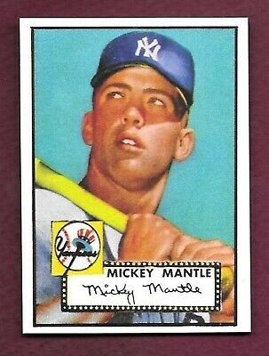 1952 Topps Mini #311 Mickey Mantle Reprint Rookie Card MINT