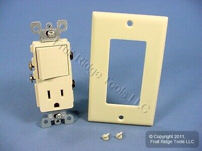DoItBest Ivory Rocker Decorator Combination Switch Outlet Receptacle 15A 522414