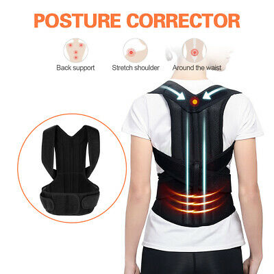Adjustable Back Posture Corrector Shoulder Relief Brace Lumbar Upper Lower R0A0