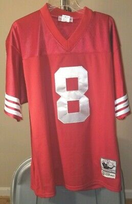 Hot STEVE YOUNG #8 San Francisco 49ers Throwback Jersey Mitchell & Ness  supplier