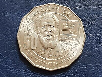 2017 Eddie Mabo Commemorative 50 Cent Coin Uncirculated