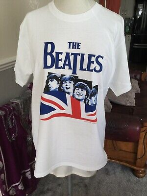 The Beatles FRUIT OF THE LOOM  WHITE T SHIRT LARGE  BRAND NEW  FAB !