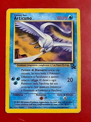 Lotto Carte Pokemon ARTICUNO - PROMO 22 - BLACK STAR - ITA