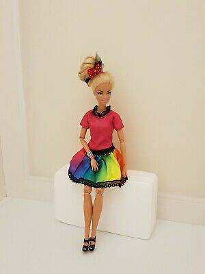 New rainbow dress daily outfit clothes fashion for your Barbie doll BD1947