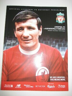 Official Liverpool FC v Huddersfield Town AFC matchday programme 26/04/19