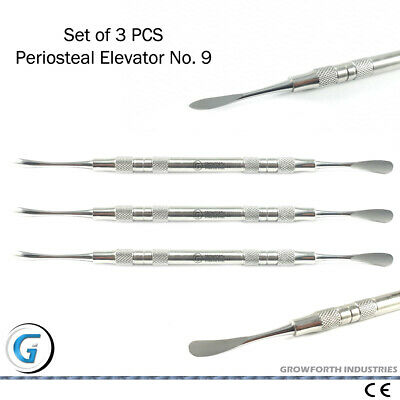 Dental Periosteal Elevator Molt.No 9 Implant Teeth Oral Care Dentistry Tools CE