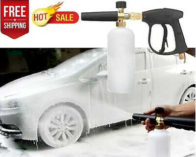 "1/4"" Quick Connector Pressure Snow Foam Lance Car Washer 1L Bottle Gun Cannon"