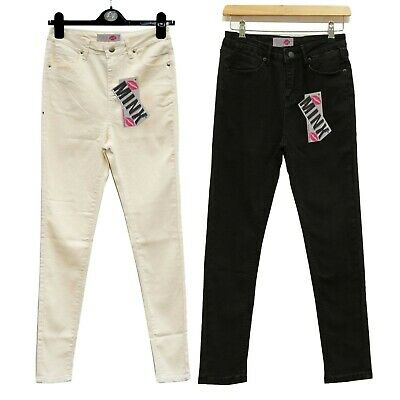Girls Skinny Slim Fit Jeans Kids Teenagers Stretchy Pant Trouser New 7-13 Years
