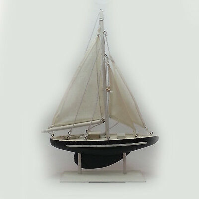 "Wooden Model Sailboat 11"" tall 7"" wide"