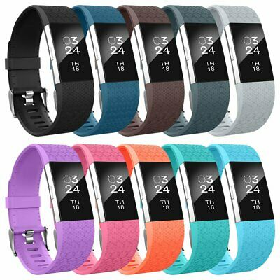 Replacement Wristband 10 Pack For Fitbit Charge 2 Band Silicone Fitness SMALL
