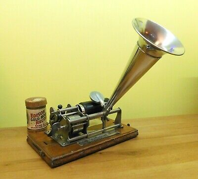 Antique Columbia B Eagle Graphophone Cylinder Record Player