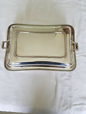 Antique Silver Plated Lidded Entree / Serving Dish