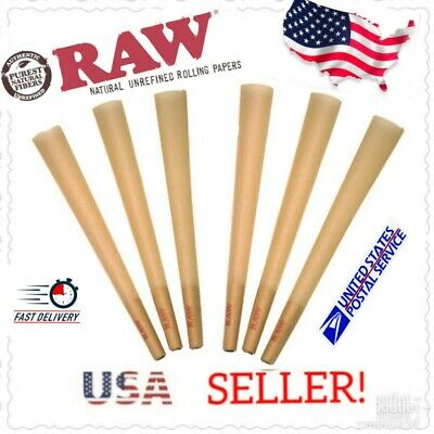 x6 RAW King Size Authentic Pre-Rolled Cones w/ Filter *LOOSE*