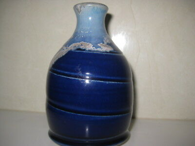 Moonshine Pottery ++Tony Barnes++  Cobalt Blue+ Stem Vase
