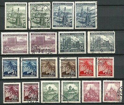 Germany Third Reich Bohemia (1939-1945) Mint Used Views Linden Definitives #14