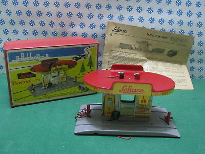 Tin Toy Schuco Varianto 3055 - Tankstelle - Made in U.S.Zone W.Germany 50'